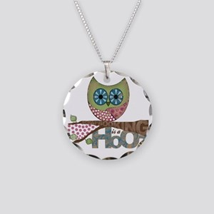 Scrapbooking is a Hoot Necklace Circle Charm