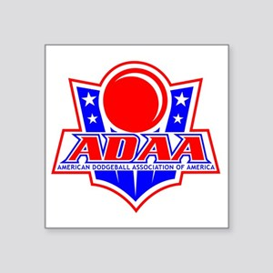 """Dodgeball-ADAA Square Sticker 3"""" x 3"""""""