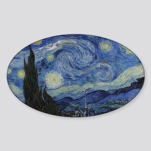 starry trek night Sticker (Oval)