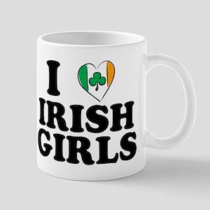 I Love Irish Girls Heart Mug