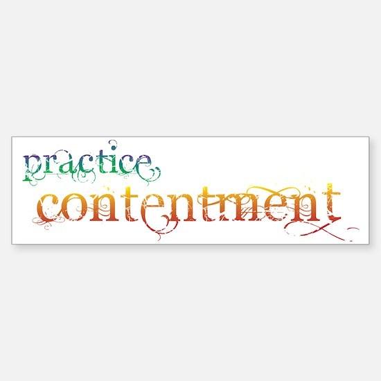 practice_con Sticker (Bumper)