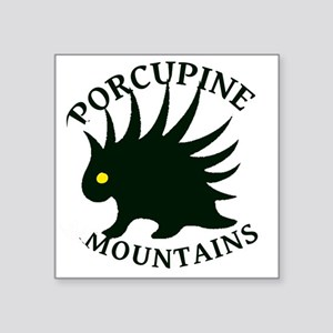 "PorcupineMountains Square Sticker 3"" x 3"""