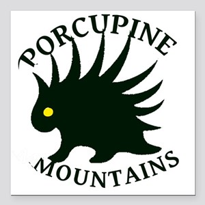 "PorcupineMountains Square Car Magnet 3"" x 3"""
