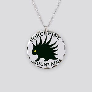 PorcupineMountains Necklace Circle Charm