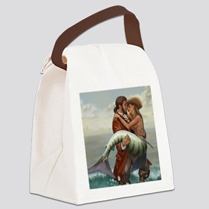 pirate and mermaid mousemat Canvas Lunch Bag