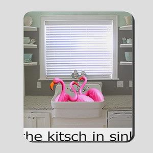 sink flamingos 1 for black copy Mousepad