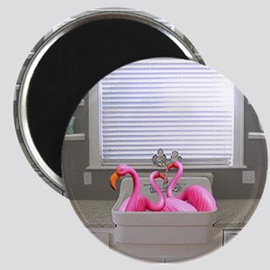 sink flamingos 1 for black copy Magnet