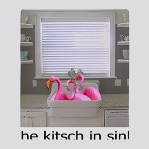 sink flamingos 1 for black copy Throw Blanket