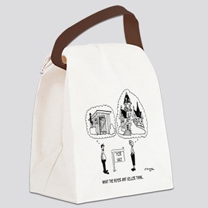 5964_real_estate_cartoon Canvas Lunch Bag