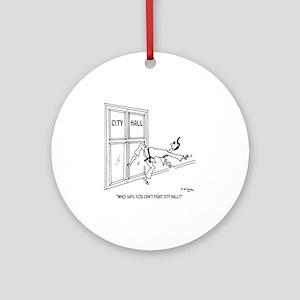5957_government_cartoon Round Ornament