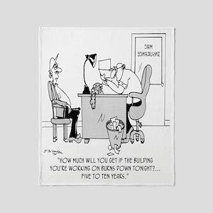 6128_insurance_cartoon Throw Blanket