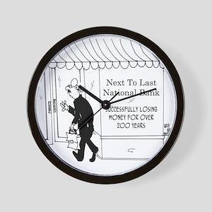 5967_banking_cartoon Wall Clock