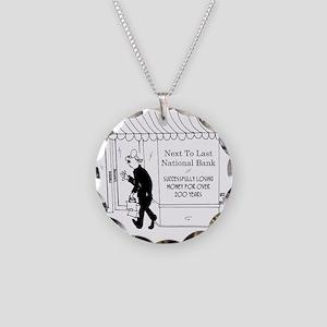 5967_banking_cartoon Necklace Circle Charm