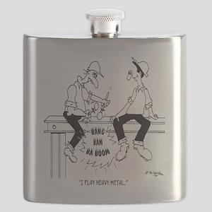 6126_drummer_cartoon Flask