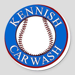 Kennish-Car-Wash-Smaller Round Car Magnet