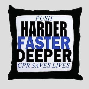 HARDER Throw Pillow
