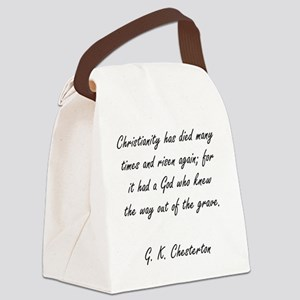christianity rising Canvas Lunch Bag