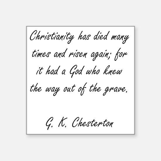 "christianity rising Square Sticker 3"" x 3"""