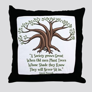 greek-trees-LTT Throw Pillow