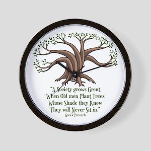 greek-trees-LTT Wall Clock