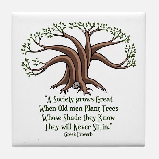 greek-trees-LTT Tile Coaster