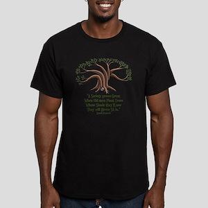 greek-trees-LTT Men's Fitted T-Shirt (dark)