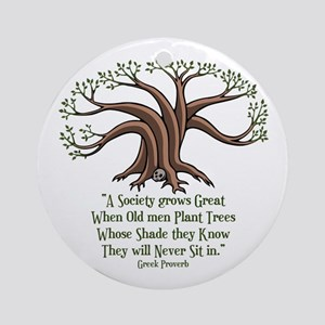 greek-trees-LTT Round Ornament