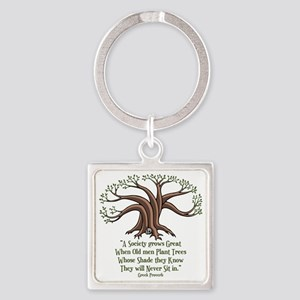 greek-trees-LTT Square Keychain