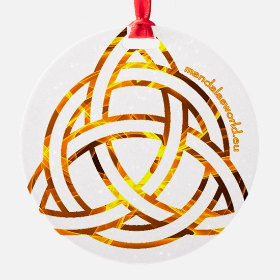 Celtic Holy Trinity Flames Ornament