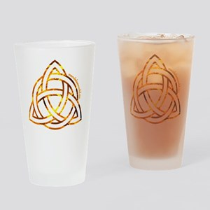 Celtic Holy Trinity Flames Drinking Glass