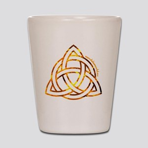 Celtic Holy Trinity Flames Shot Glass