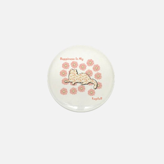 Ragdoll Happiness Mini Button