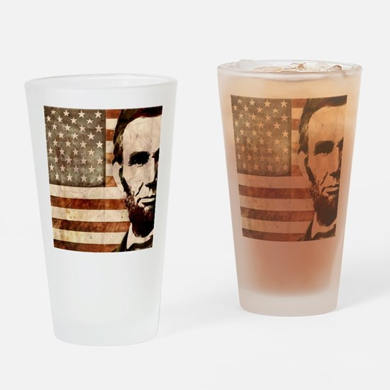 april11_lincoln Drinking Glass