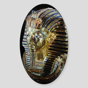 Tutankhamon_Mask_square Sticker (Oval)