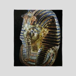 Tutankhamon_Mask_square Throw Blanket