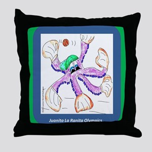 beisbol pulpo Throw Pillow