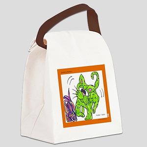 budin con estambre Canvas Lunch Bag