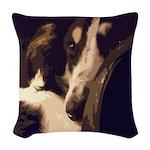 Borzoi Essence Woven Throw Pillow