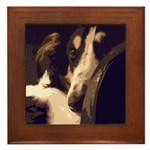 Borzoi Essence Framed Tile