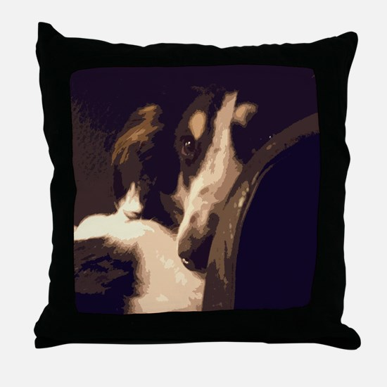 Borzoi Essence Throw Pillow