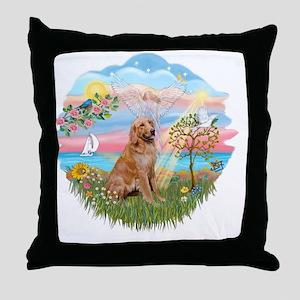 Angel Star - Golden 1 Throw Pillow