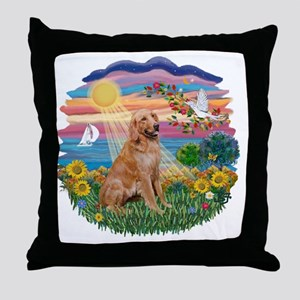 Autumn Sun - Golden 1 Throw Pillow