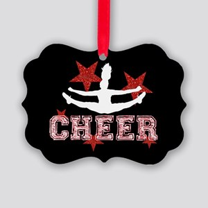 Cheerleader in black and red Ornament