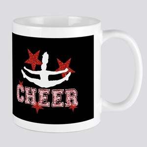 Cheerleader in black and red Mugs