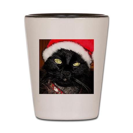 Christmas Cat Shot Glass