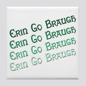 Irish Erin Go Braugh Tile Coaster