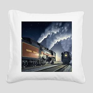 night_meet Square Canvas Pillow