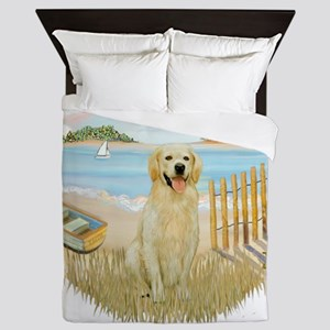 Rowboat - Golden 6 Queen Duvet