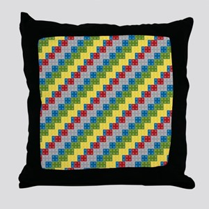 Block Pattern for Boys Throw Pillow