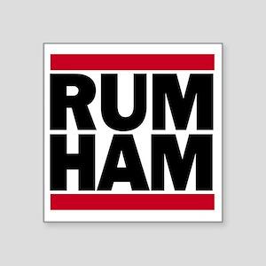 """Rum Ham DMC_light Square Sticker 3"""" x 3"""""""